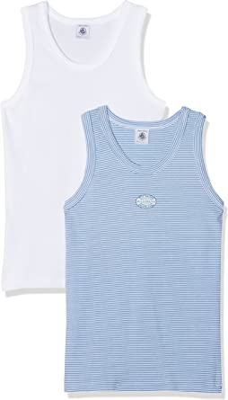 Petit Bateau Boys 36797 Sleeveless Vest,Pack of 2