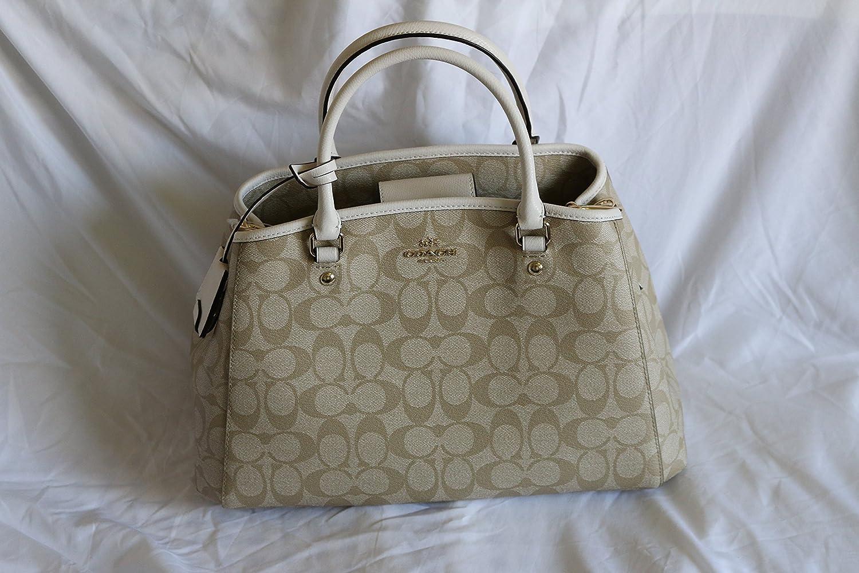 Coach Signature Small Margo Carryall Light Khaki Chalk Handbags Margot In Canvas F34608 Amazoncom