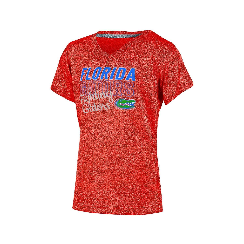 X-Large Orange Heather Champion NCAA Florida Gators Girls Short Sleeve V-Neck T-Shirt