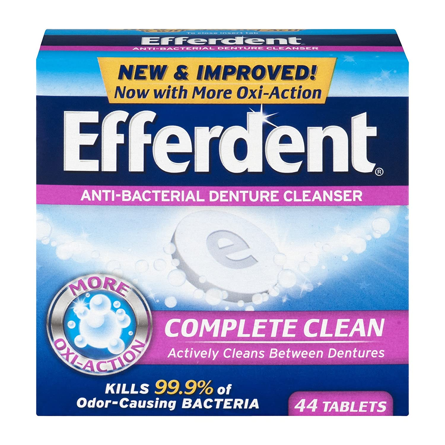 Efferdent Anti-Bacterial Denture Cleanser Tablets, 40 Count Medtech Product Inc. 1001