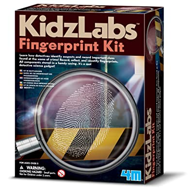 4M KidzLabs Fingerprint Kit - Spy Forensic Science Lab - Educational STEM Toys Gift for Kids & Teens, Boys & Girls: Toys & Games