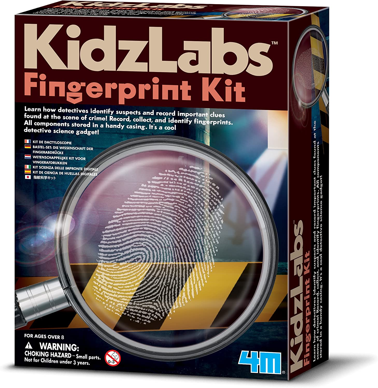 Amazon Com 4m Kidzlabs Fingerprint Kit Spy Forensic Science Lab Educational Stem Toys Gift For Kids Teens Boys Girls Toys Games
