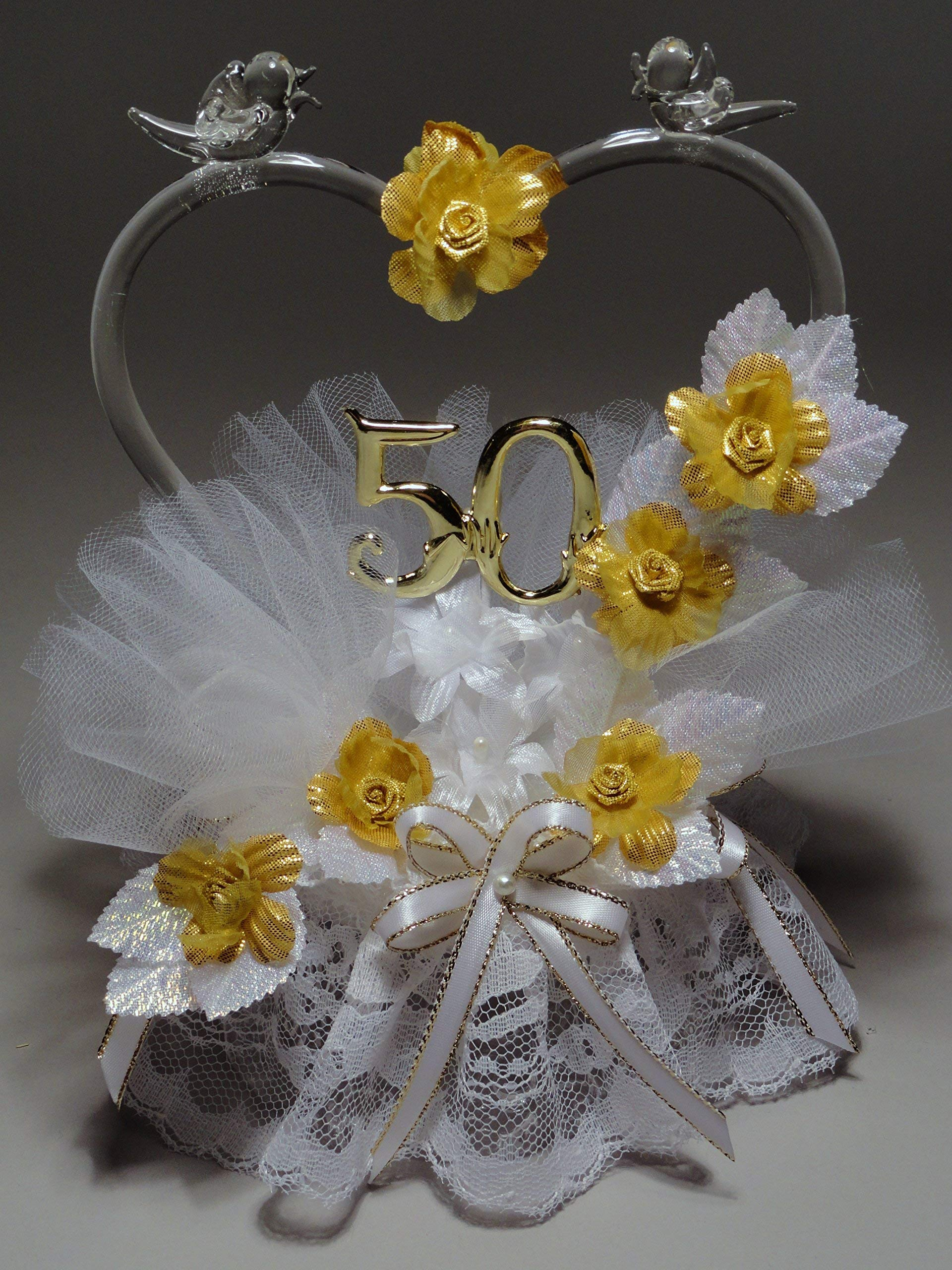 Remembering The Years 50th Wedding Anniversary Cake Topper
