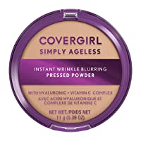Covergirl Simply Ageless Instant Wrinkle Blurring Pressed Powder, Classic Ivory, 0.39 Oz.