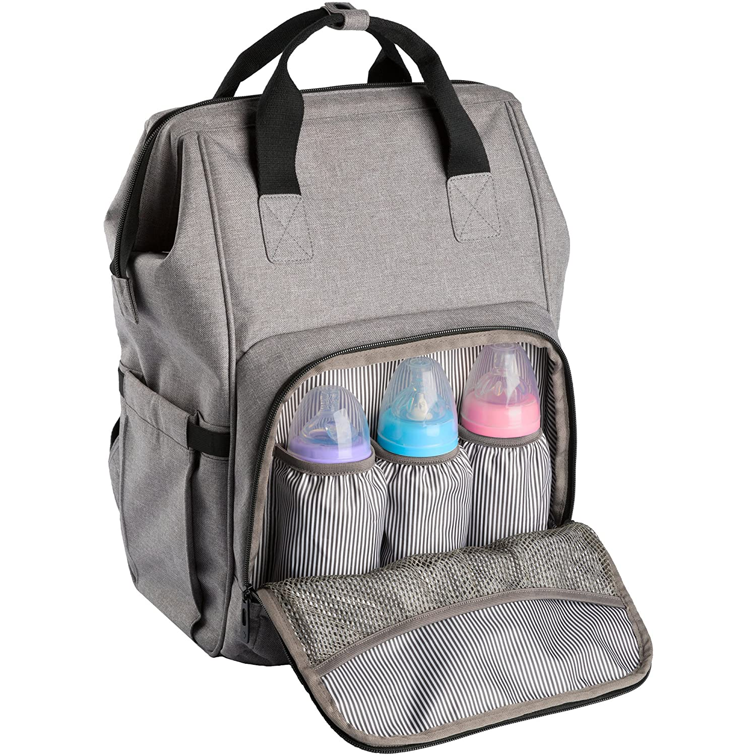ferlin wide open design baby bag backpack with