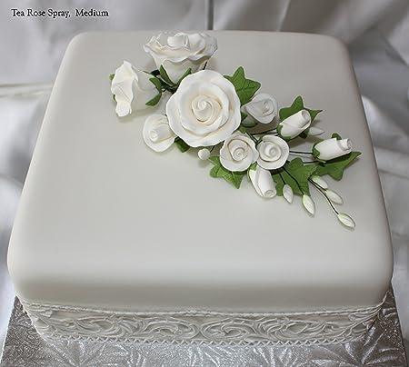 Tea rose spray medium white sugar flowers cake topper tea rose spray medium white sugar flowers cake topper mightylinksfo