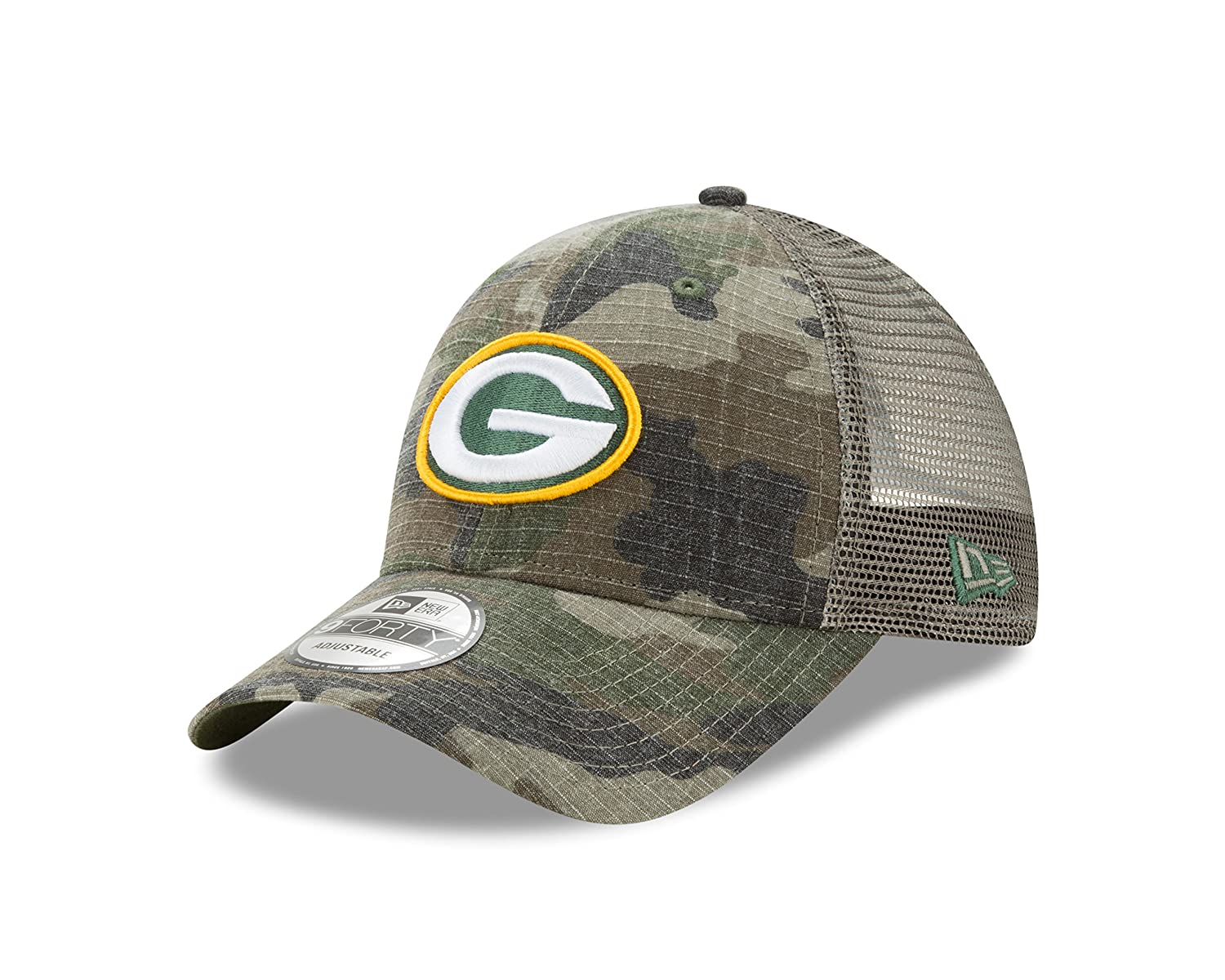 Amazon.com   Green Bay Packers Camo Trucker Duel New Era 9FORTY Adjustable Snapback  Hat   Cap   Sports   Outdoors 4259b7800db