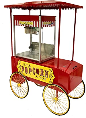 Large Commercial Popcorn Machine Cart Wagon Stand Display