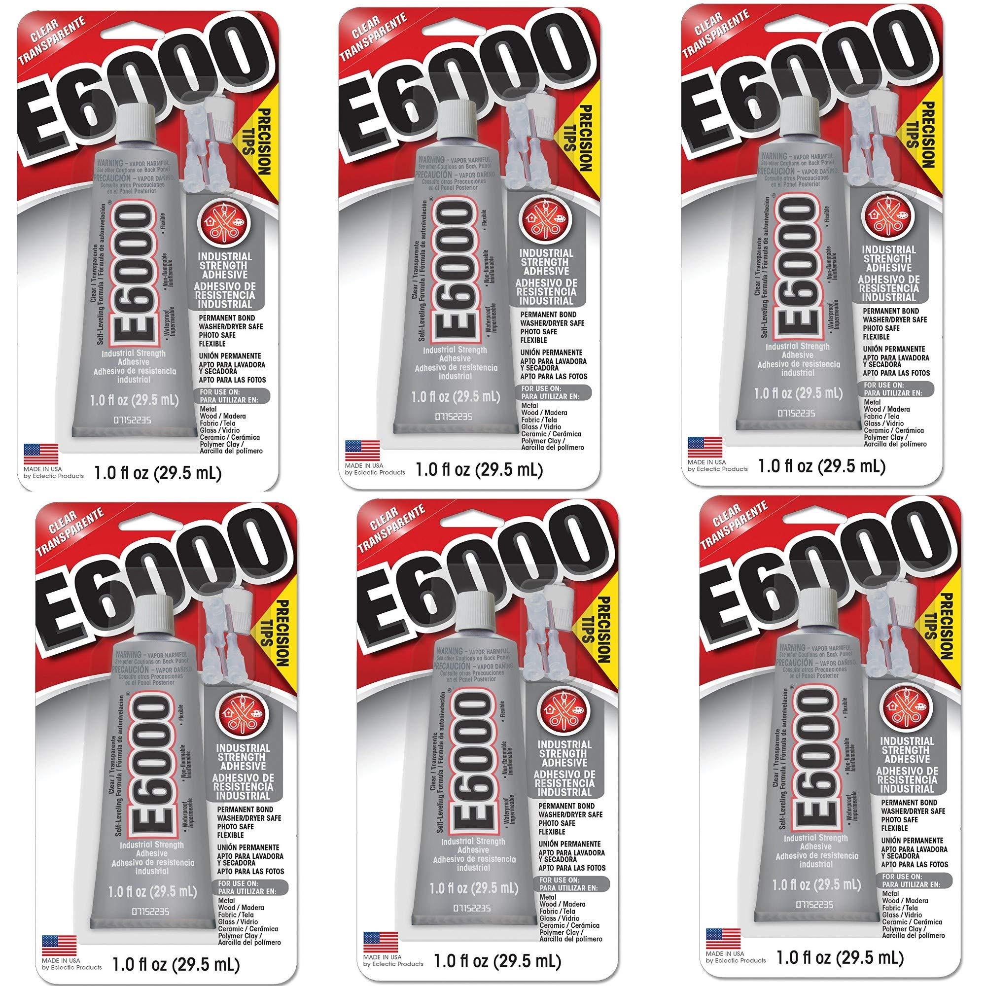 E6000 231020 Adhesive with Precision Tips, 1.0 fl oz (6)