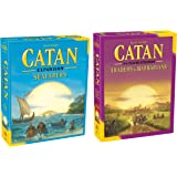 Catan: Seafarers Game Expansion 5th Edition and Catan: Traders & Barbarians 5-6 Player Extension 5th Edition bundled by Maven Gifts