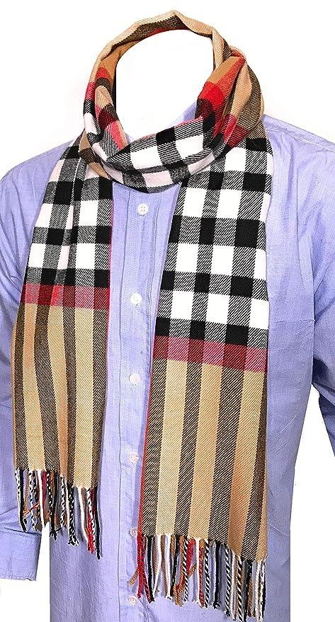 843240586764 Ornella Venturi Foulard pour femme   homme écharpe à carreaux à carreaux  façon chameau SC2020D  Amazon.fr  Vêtements et accessoires