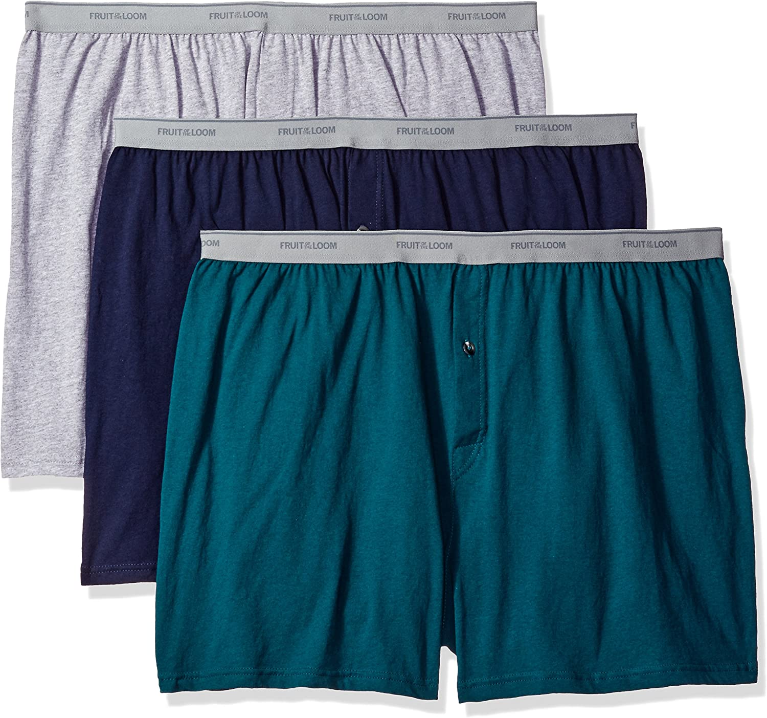3-Pack Premium Fruit of the Loom BigMan Size Options Breathable Boxer Briefs