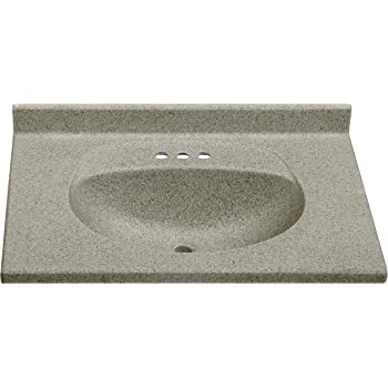 Imperial fb3122capss olympic oval bowl bathroom vanity top - 19 inch deep bathroom vanity top ...