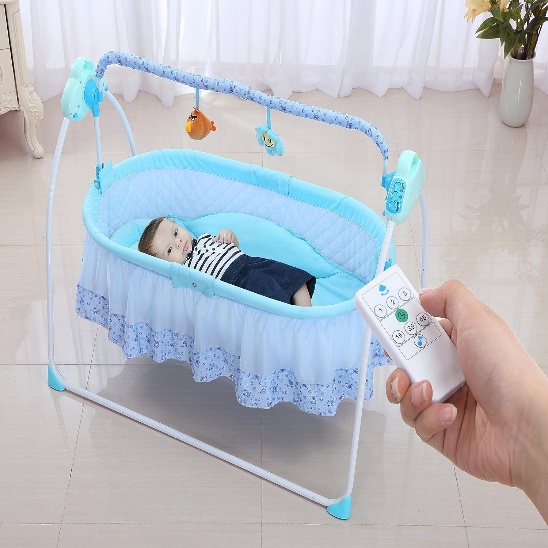 Fantastisch Babywiege Multifuntion Elektrische Babyschaukel Babybett Automatische Baby  Wiege MP3 Player Fermbedinung Batterie Und USB Schnittstelle