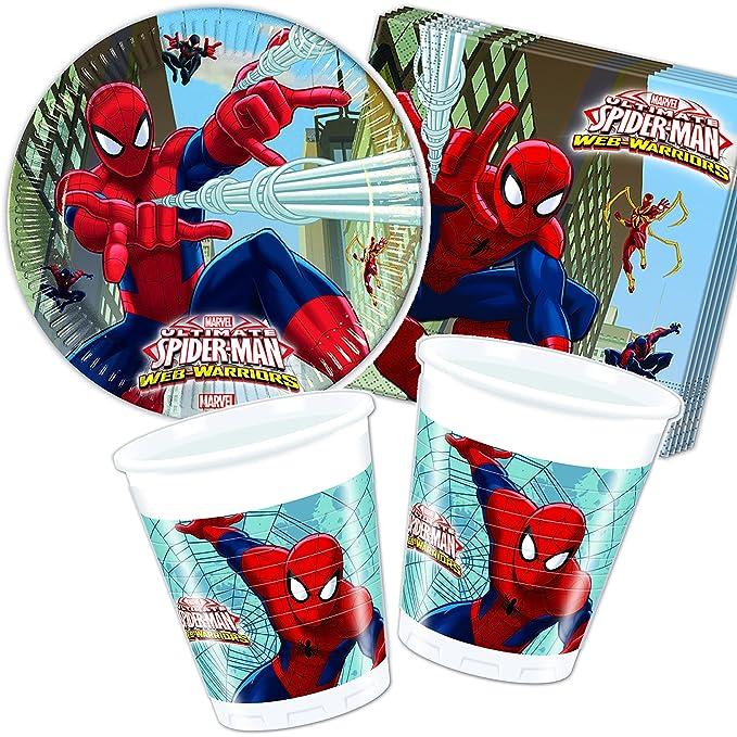 37 piezas Party * Ultimate Spiderman * con plato + taza + ...
