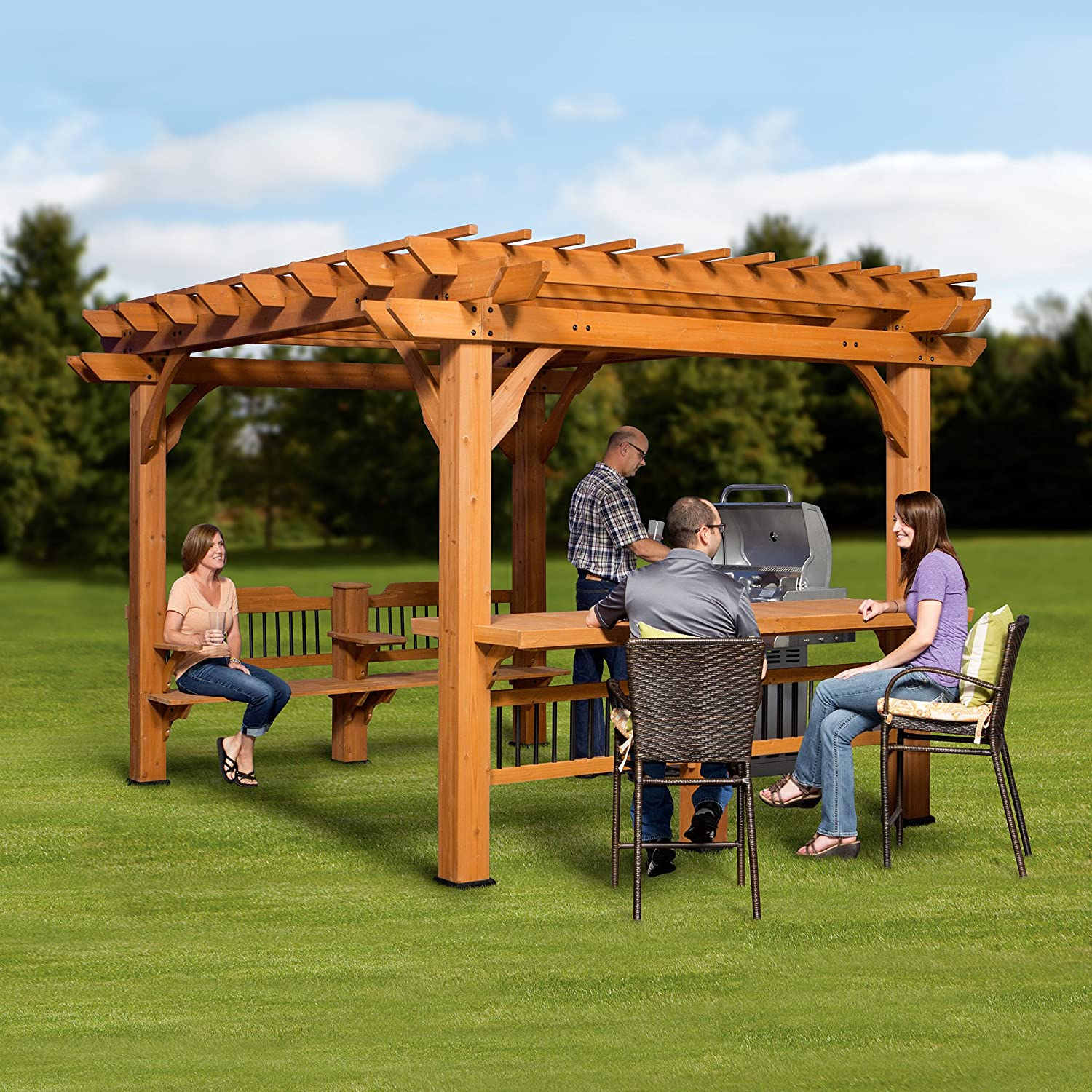 Backyard Discovery 1606517 Oasis Pergola, 12 by 10: Amazon.es ...