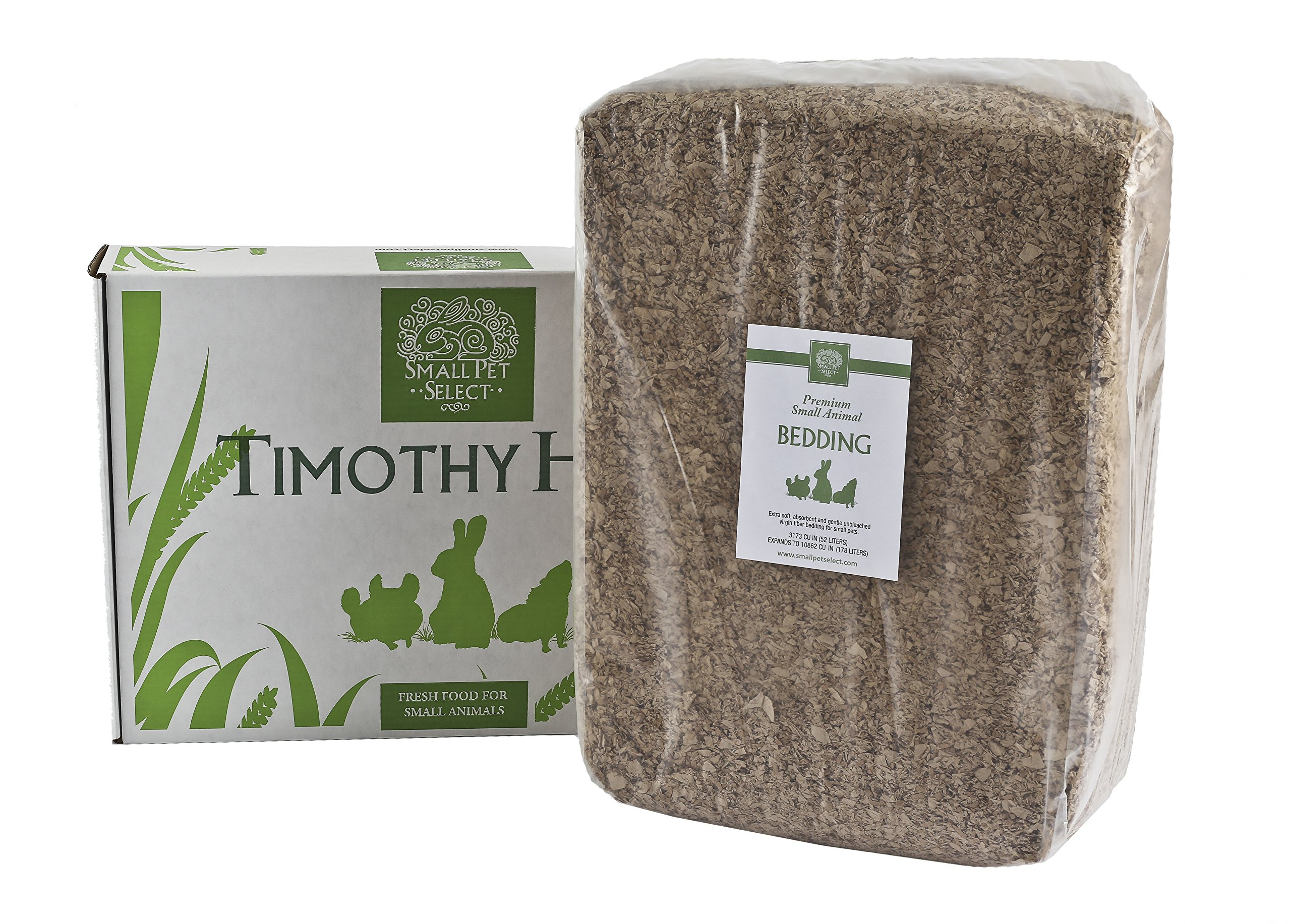 Small Pet Select Timothy Hay And Bedding Combo Pack: Timothy Hay (10 Lb.), Bedding (178L)