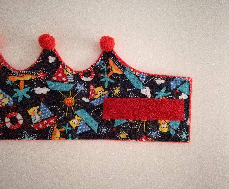 Corona de tela primer cumpleaños 1 año para bebes niños ...