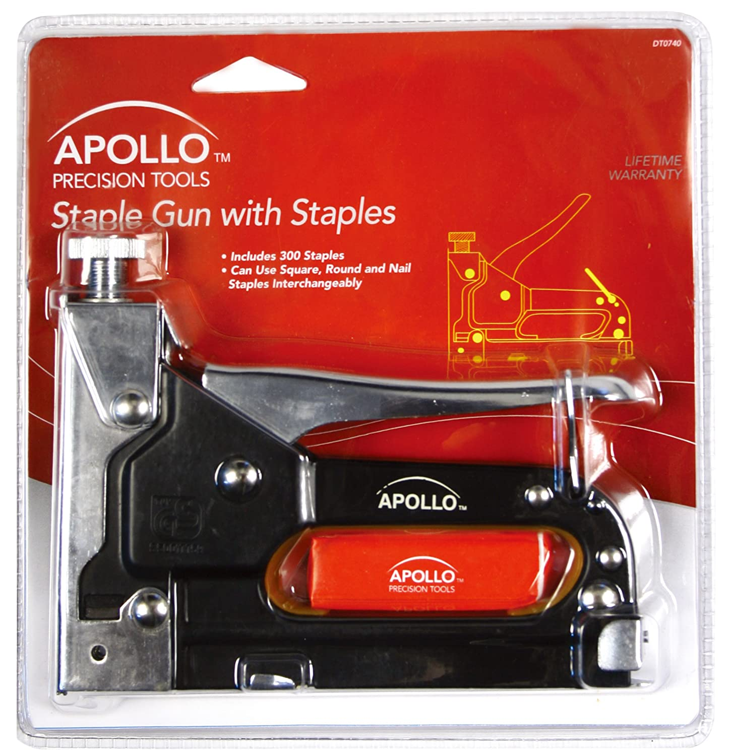apollo precision tools dt0740 staple gun with staples hardware