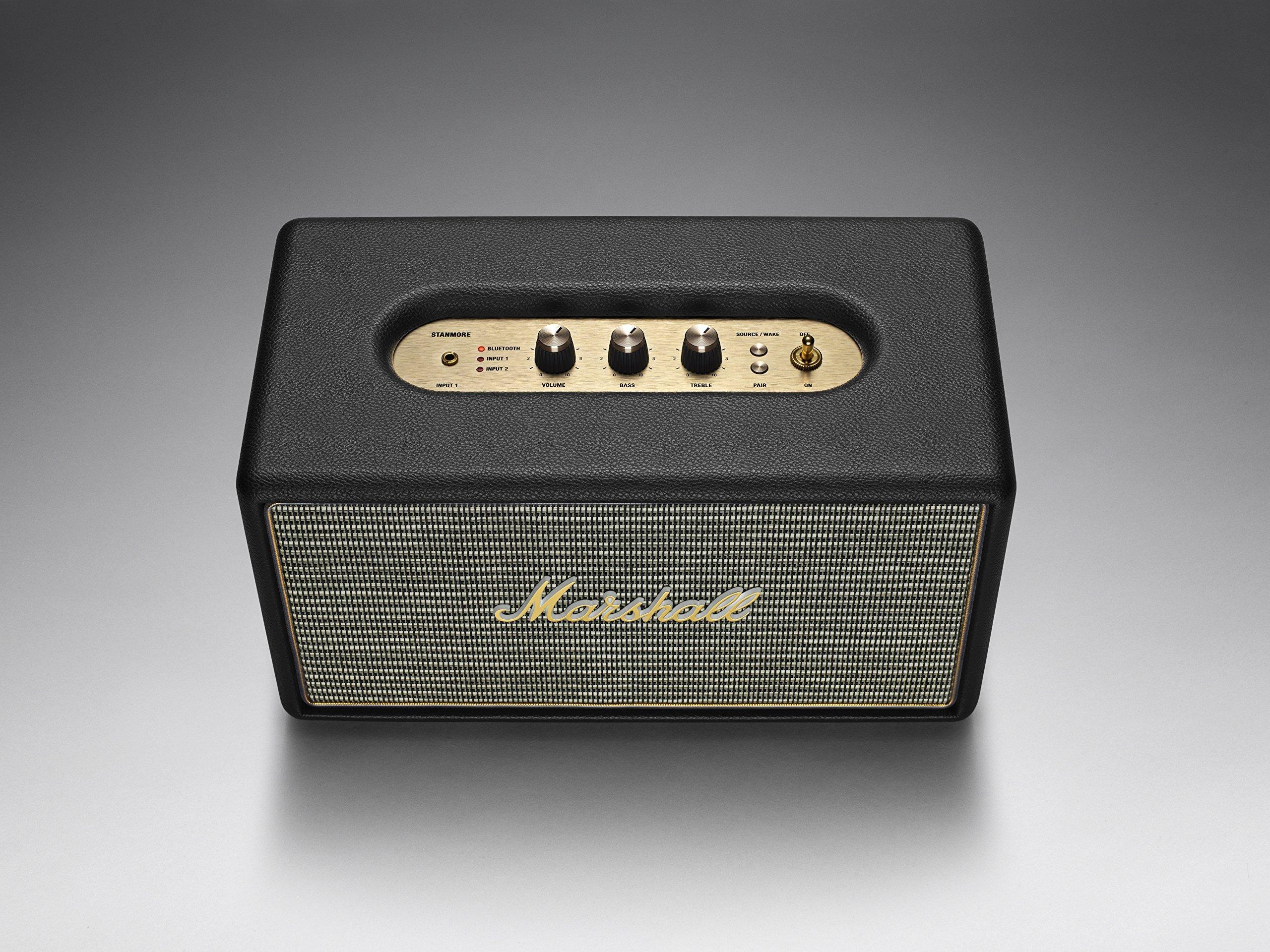 Marshall Stanmore Bluetooth Speaker, Black (04091627) by Marshall (Image #1)