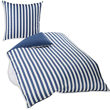 Marc Opolo Bettwäsche 730001 100de 161 Classic Stripe 1 Person Set