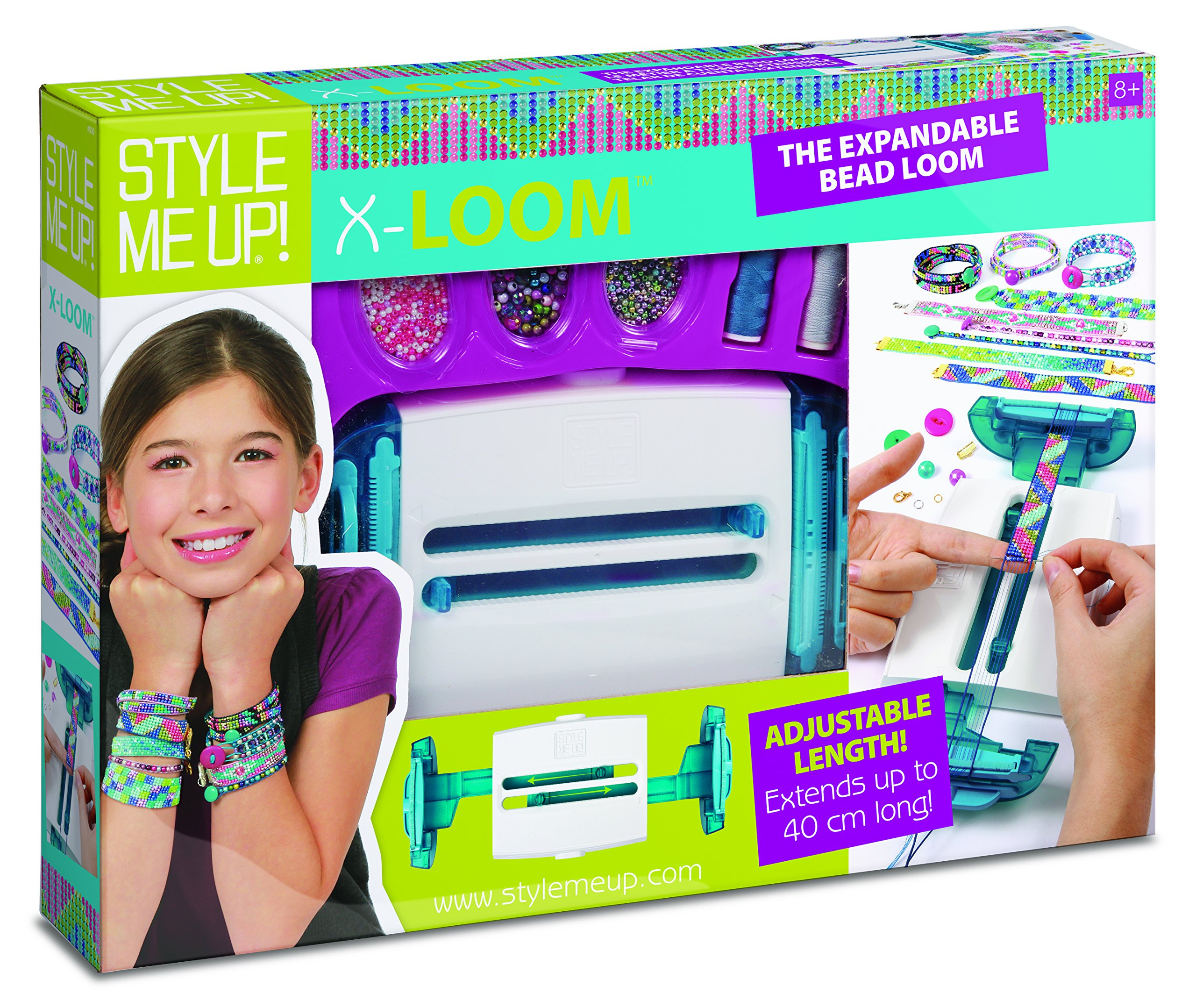 Wooky Entertainment Style Me Up! x -Loom Kit-Adjustable Beads Up to 18''