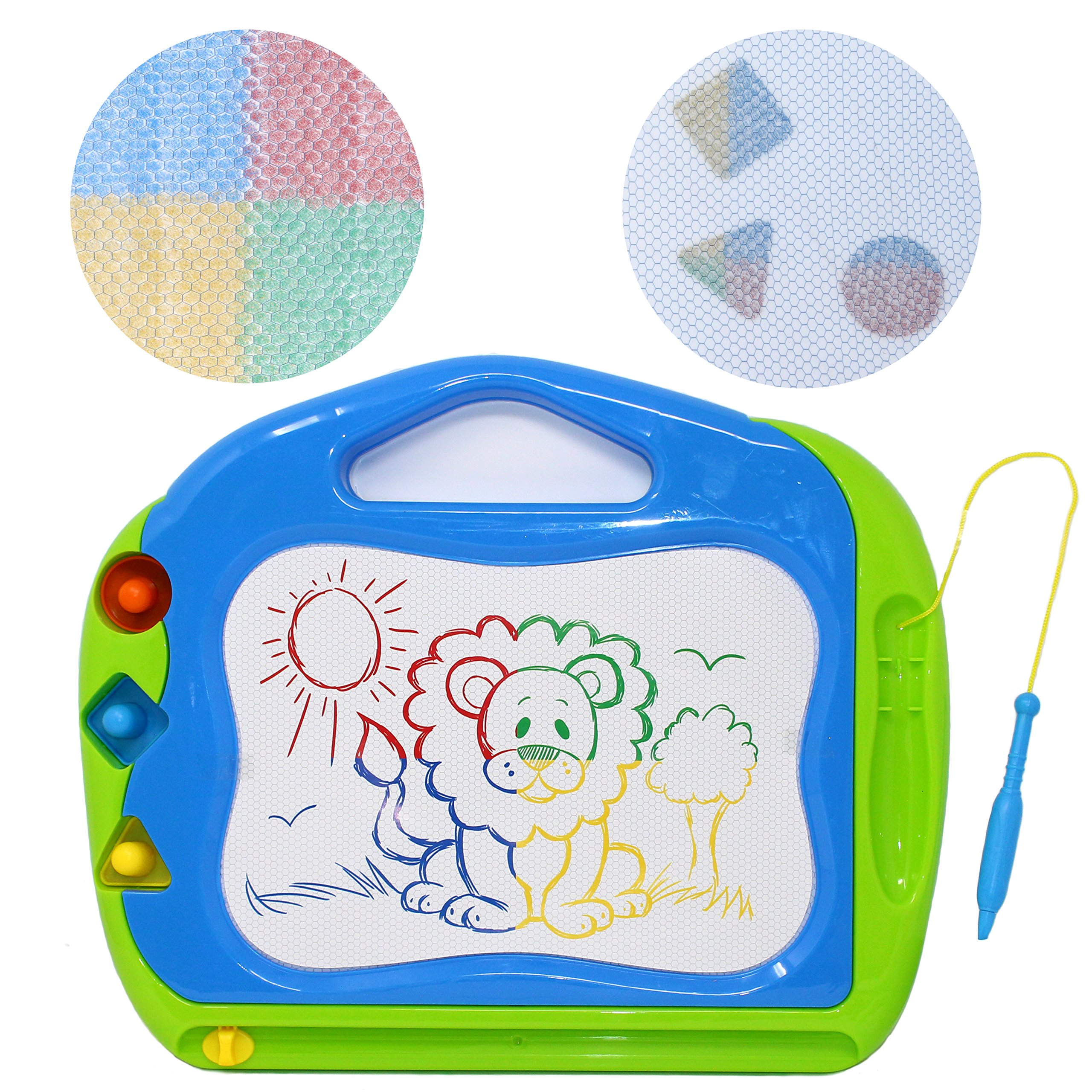 JOYIN 2 Magnetic Drawing Boards with Multi-Colors Drawing Screens Erasable Doodle Sketch Magna Board for Writing, Sketching, Travel Size Gaming Pad, Educational Learning and Classroom Prizes. by JOYIN (Image #3)