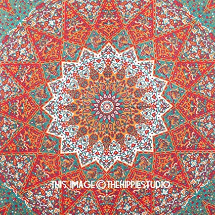Amazoncom 1 X Queen Indian Star Mandala Psychedelic Tapestry