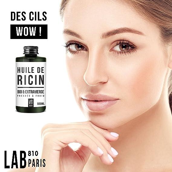 Aceite de ricino ecológico 100% puro y naturalPrensado en frío, extra virgen, acelera el crecimiento del cabello, de las pestañas y de las uñasHidrata la ...