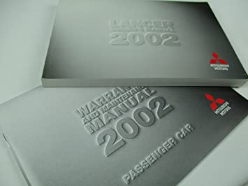 amazon com 2002 genuine mitsubishi lancer owner manual automotive rh amazon com 2003 Lancer 2002 mitsubishi lancer oz rally owners manual