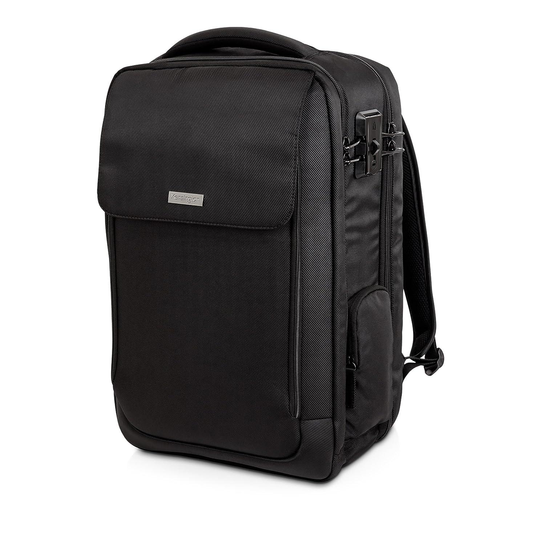Kensington 98618 SecureTrek Lockable Laptop Overnight Backpack, 17-Inch, Black K98618WW