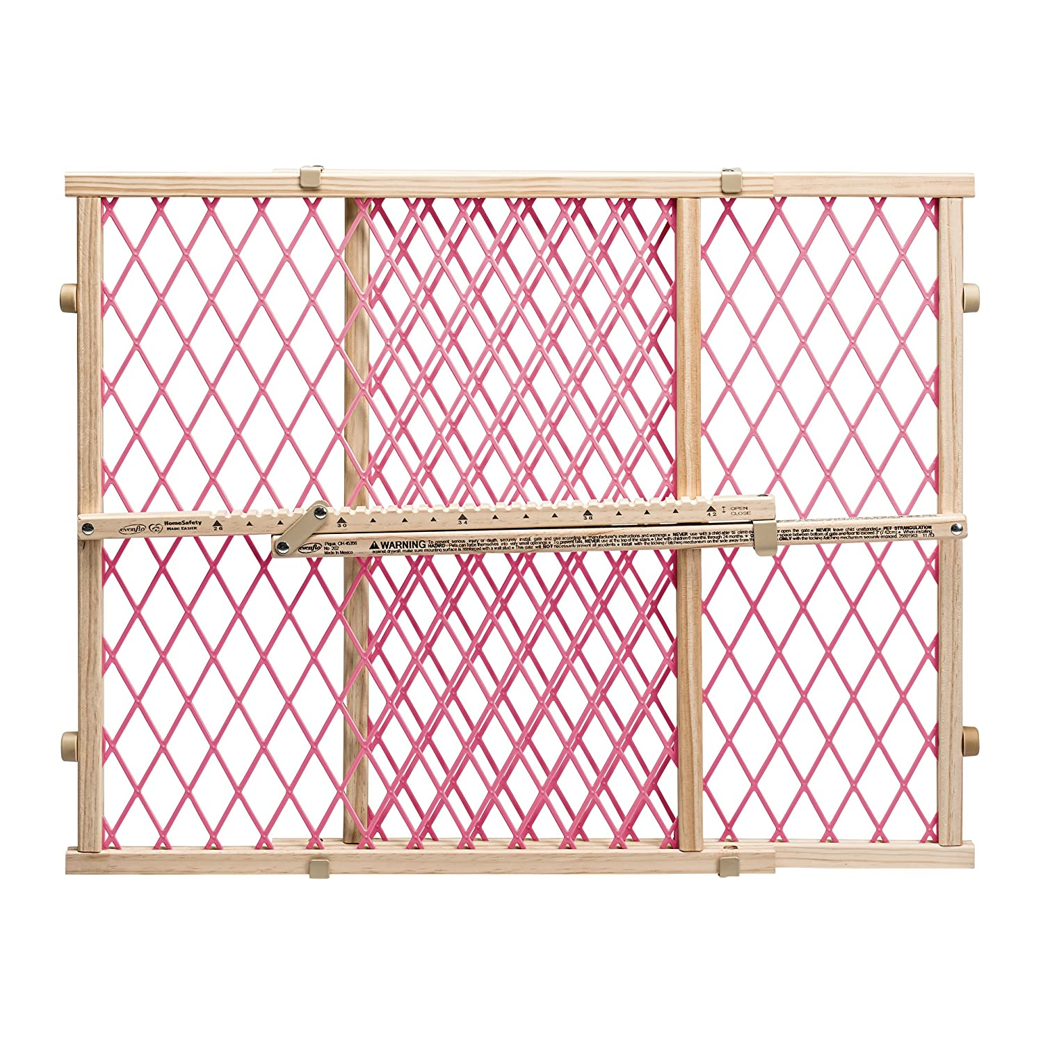 Evenflo Position and Lock Doorway Gate, Pink 2025915