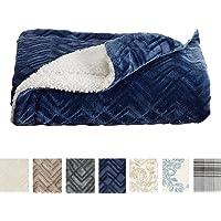 Home Fashion Designs Premium Reversible Berber and Sculpted Velvet Plush Luxury Blanket. High-End, Soft, Warm Sherpa Bed Blanket Brand.