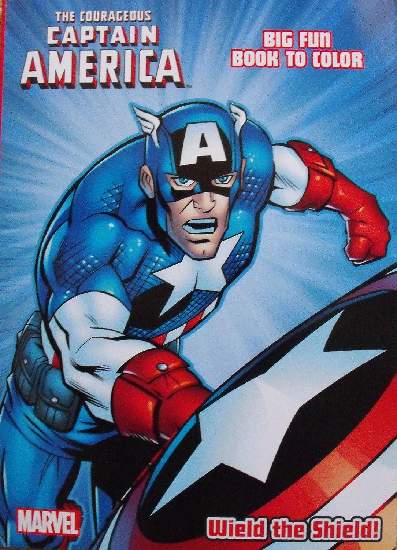 amazon com captain america coloring u0026 activity book cover art