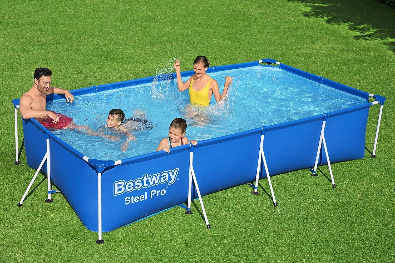 Bestway 56405 - Piscina Desmontable Tubular Infantil Family Splash Frame Pool 400x211x81 cm: Amazon.es: Jardín