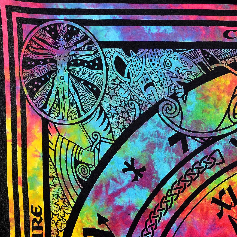 Arazzo colorato da appendere alla parete Future fatto a mano Hippies formato poster, design P10