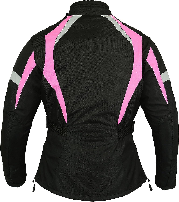 Mbsmoto Moto Femmes Imperméable Protection Textile Blouson Touring
