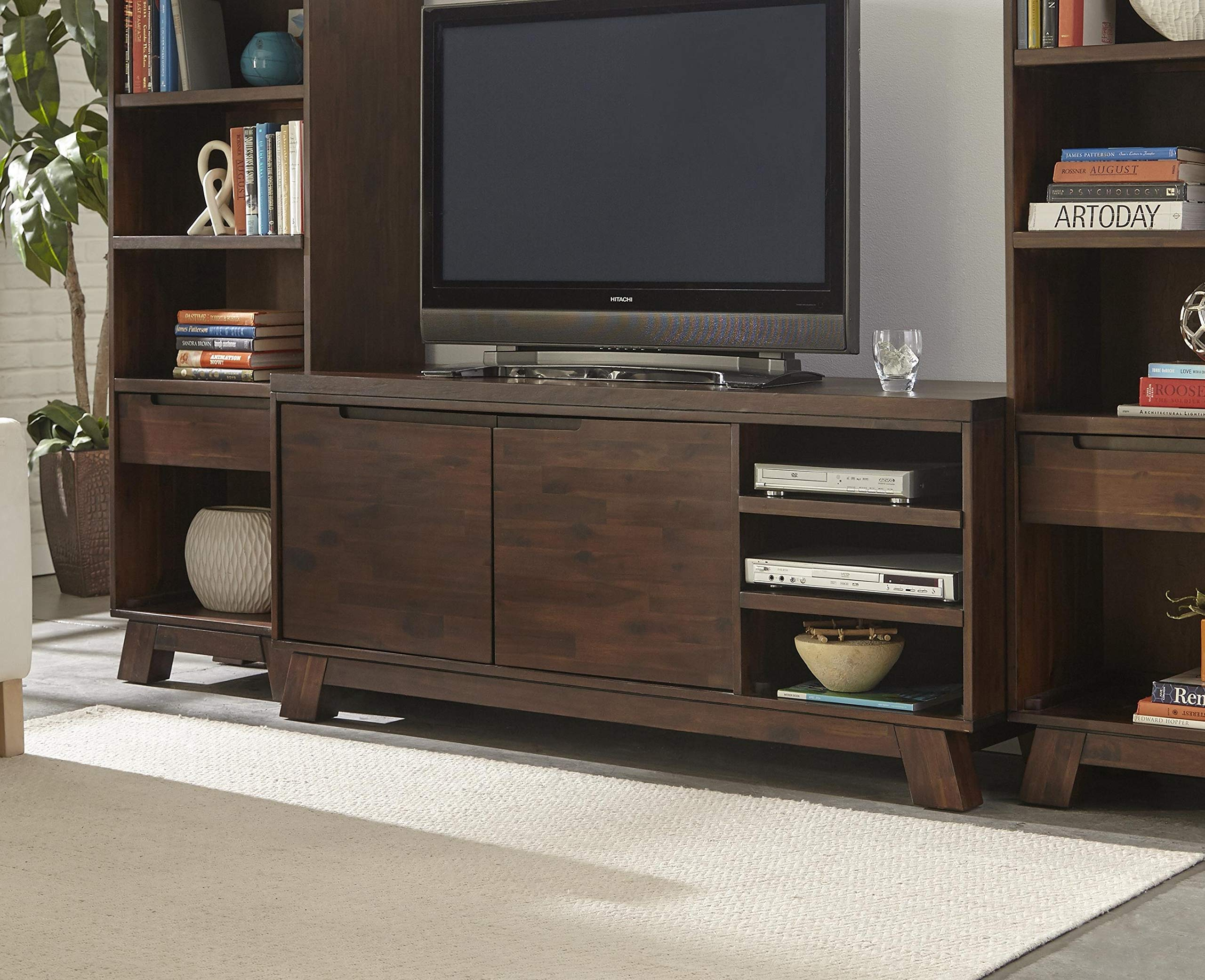 Modus Furniture Portland Media Console, Medium Walnut by Modus