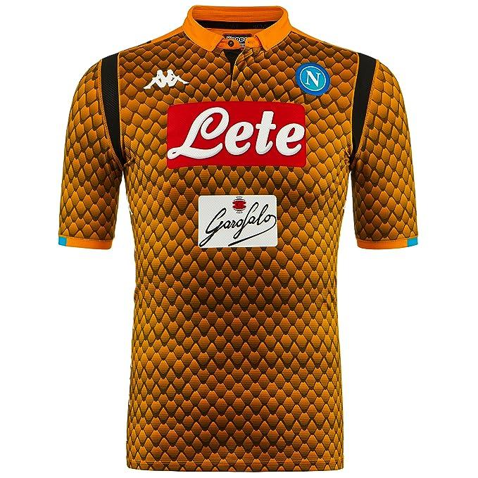 SSC Napoli Camiseta de portero visitante naranja fantasía, naranja ...
