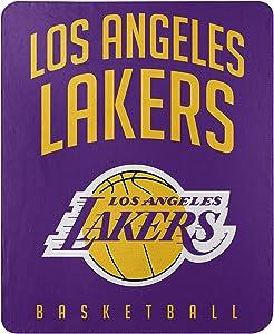 Northwest NBA Los Angeles Lakers 50x60 Fleece Layup DesignBlanket, Team Colors, One Size