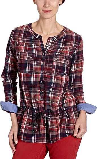 REPLAY - Camisa a Cuadros de Manga Larga con Cuello Mao para ...
