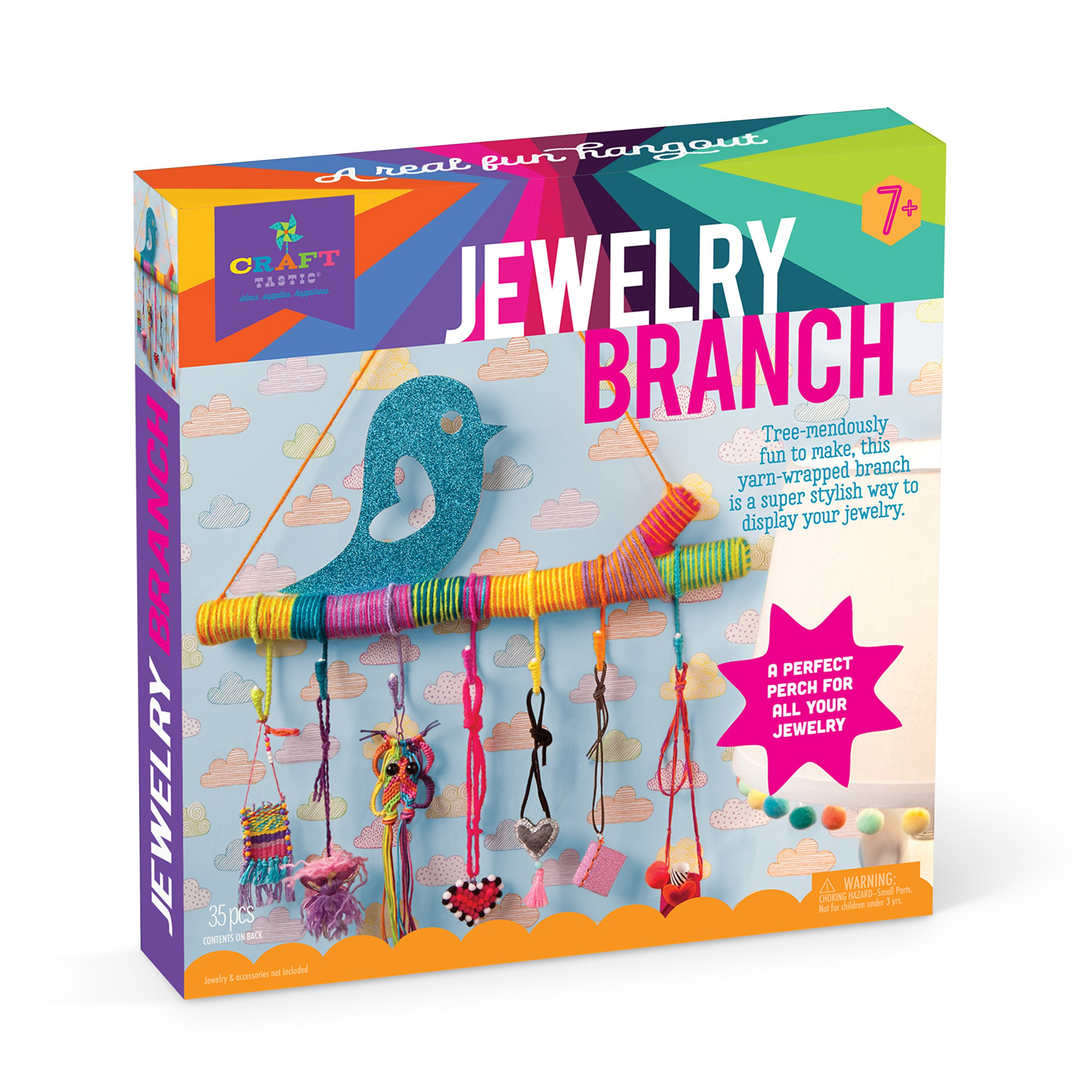 Craft-tastic - Jewelry Branch Kit - Craft Kit Makes One 16'' Jewelry Holder by Craft-tastic