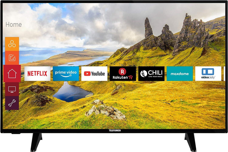 Telefunken Xu40j521 102 Cm 40 Zoll Fernseher Smart Tv Inkl Prime Video Netflix Youtube 4k Uhd Mit Dolby Vision Hdr Hdr 10 Hlg Works With Alexa Triple Tuner