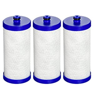 AquaCrest WF1CB Replacement for WF1CB, WFCB, RG100, NGRG2000, WF284, 9910, 469906, 469910 Refrigerator Water Filter (Pack of 3)