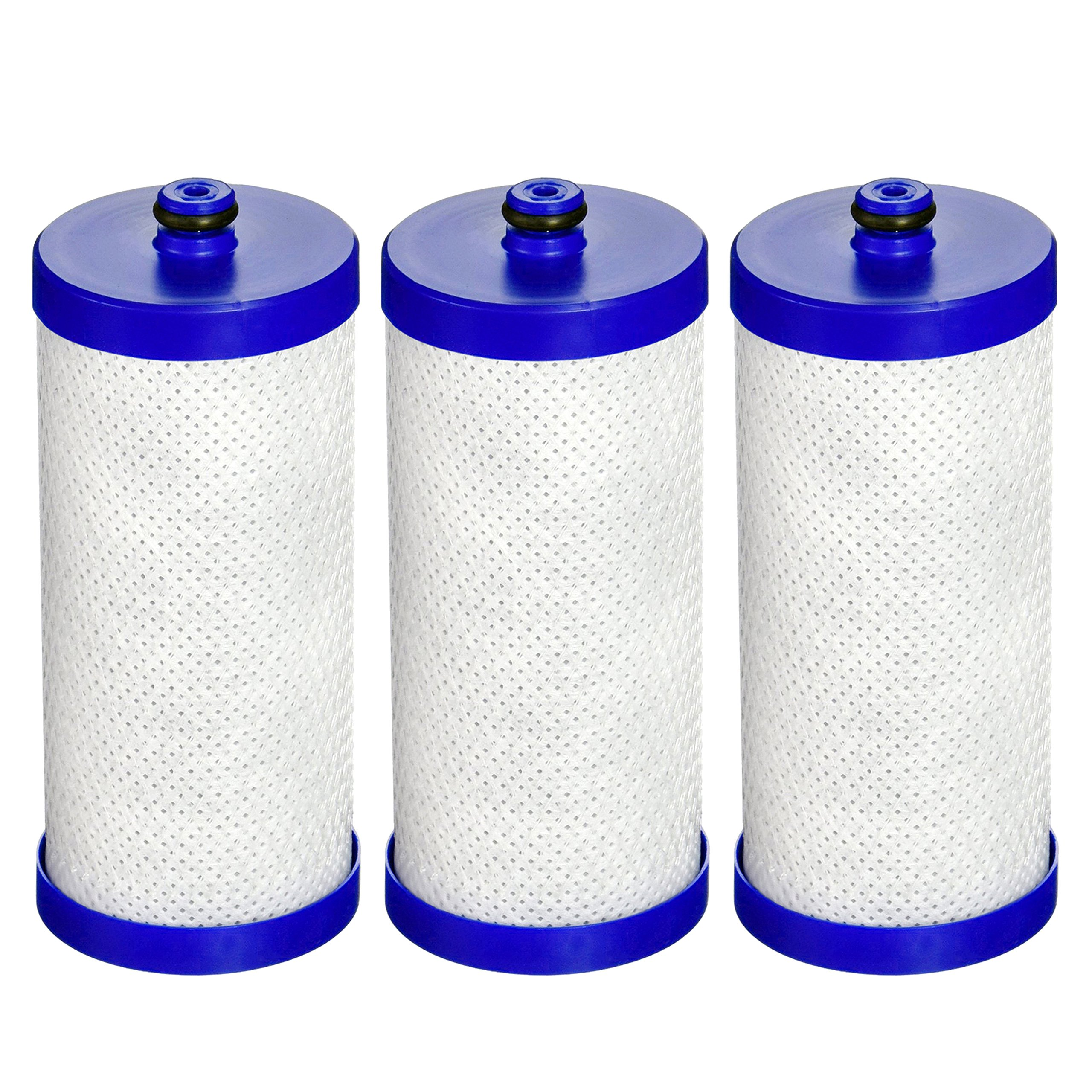 AQUACREST Replacement Refrigerator Water Filter, Compatible with WF1CB, WFCB, RG100, NGRG2000, WF284, 9910, 469906, 469910 (Pack of 3)