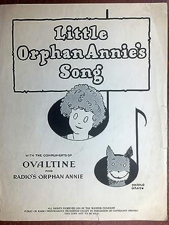 little orphan annie s song 1931 harold gray original sheet music
