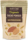 Heartyhub Organic Cacao Powder: from Hand-Picked Peruvian Criollo Cocoa Beans - 1 LB - Gluten-Free, Vegan, Kosher & Paleo Diet Friendly - Unsweetened and Unprocessed Raw Superfood - Preservative Free