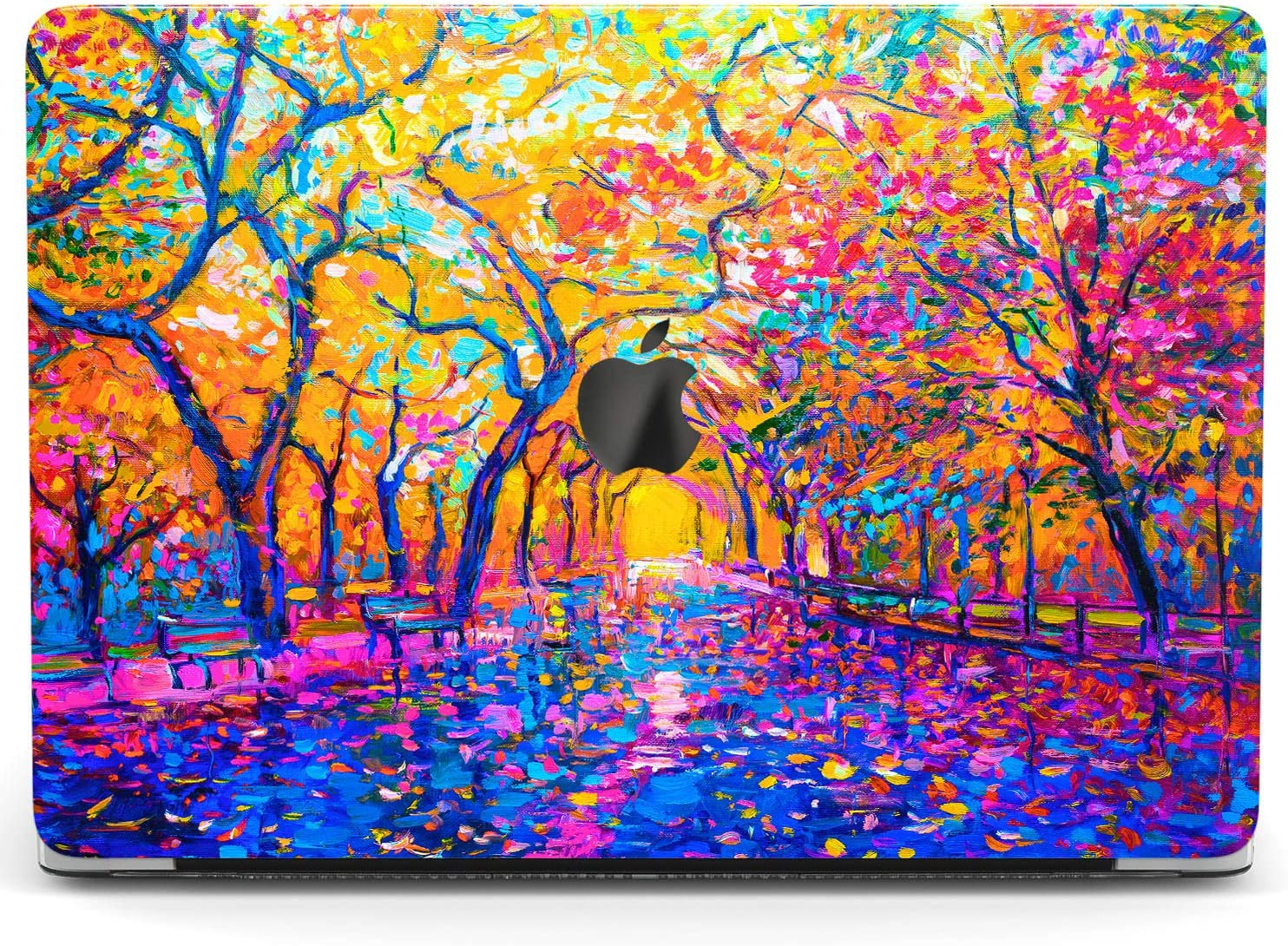 Wonder Wild Case For MacBook Air 13 inch Pro 15 2019 2018 Retina 12 11 Apple Hard Mac Protective Cover Touch Bar 2017 2016 2020 Plastic Laptop Print Watercolor Landscape Painting Bright Artwork Nature