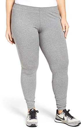 478f104c54ad9 Image Unavailable. Image not available for. Color: NIKE Women's Plus Size  Leg-A-See Dri-FIT Logo Leggings Carbon Heather