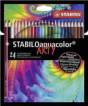Aquarell-Buntstifte STABILO aquacolor 24er Pack verschiedene Farben Farbstifte